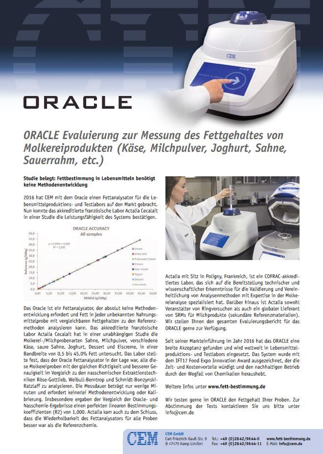 Oracle Evaluierung Actalia