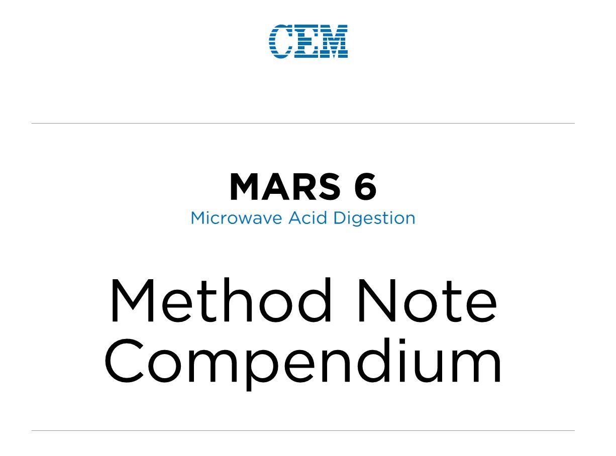 Aufschlussmethoden Mikrowellenaufschluss Mars 6